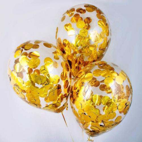 Шар гелиевый ( золотое конфетти) 30 см.