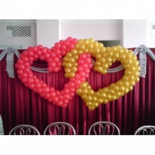"""Фигура из шаров """"""""Два сердца. Оформление свадьбы"""""""