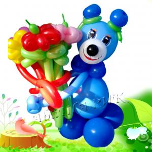 """Фигура из шаров """"Мишка - мальчик"""""""