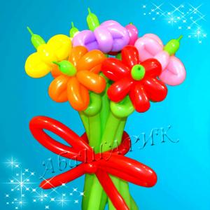 """Цветы из шаров № 15 """"Вальс цветов"""""""