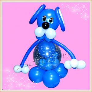 """Фигура из шаров """"Собака - шар-сюрприз"""""""
