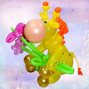 """Фигура из шаров """"Жираф"""""""