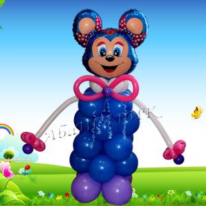 """Фигура из шаров """"Весёлый мышонок синий"""""""