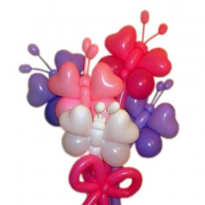 """Цветы из шаров № 14 """"Бабочки"""""""