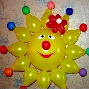 "Фигура из шаров ""Солнышко № 3"""