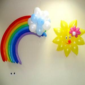 """Фигура из шаров """"Радуга, облако и солнышко"""""""