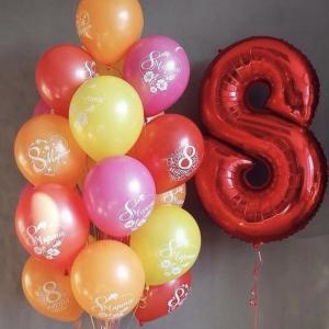 Оформление шарами 8 марта № 51