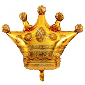 """Шар фольгированный """"Корона (золото)"""""""