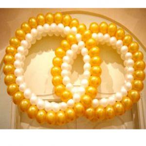 """Фигура из шаров """"Кольца свадебные (каркасные)"""""""