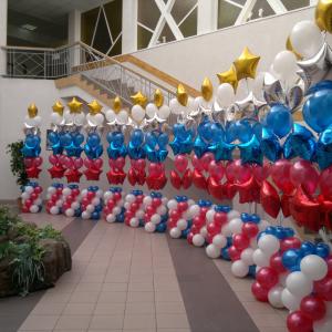 Оформление шарами выпускного в школе № 60