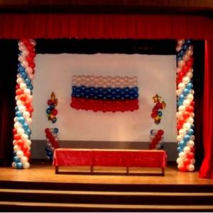 Оформление шарами зала № 2