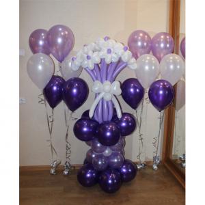 Цветы из шаров № 12