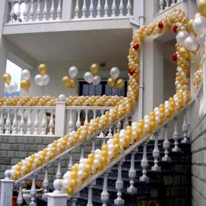 Оформление шарами свадьбы № 13