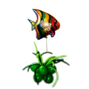 """Фигура из шаров """"Рыбка в водорослях"""""""