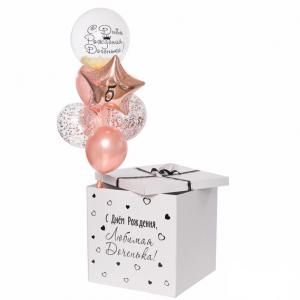 Коробка-сюрприз с шарами №36