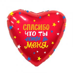 """Фольгированный шар """"Сердце Спасибо, что ты есть у меня!"""""""