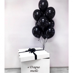 Коробка-сюрприз с шарами №18