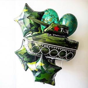 """Фонтан из шаров № 162  """"23 февраля"""""""
