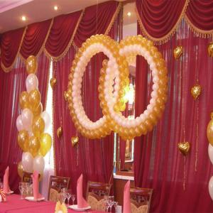 Оформление шарами свадьбы № 19