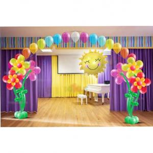 Оформление шарами выпускного в детском саду № 32
