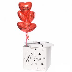 Коробка-сюрприз с шарами №37