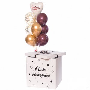 Коробка-сюрприз с шарами №34