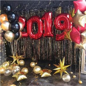 """Композиция из шаров """"Новый год №16"""""""