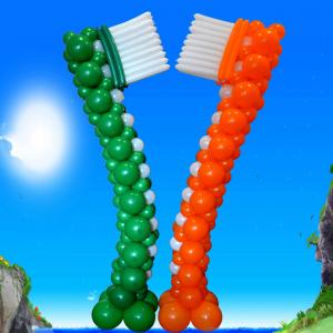 """Композиция из шаров """"Зубные щётки"""""""