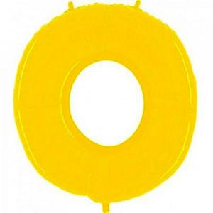 """Шар фольгированный """"Цифра 0 (ярко-жёлтый)"""""""
