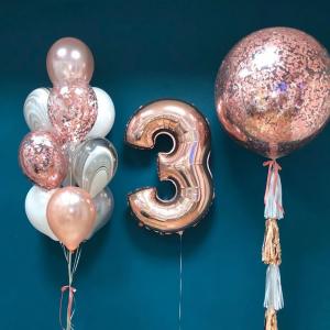 """Композиция из шаров № 673 """"День рождения"""""""