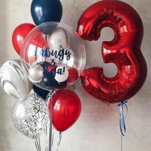 """Композиция из шаров № 680 """"День рождения"""""""