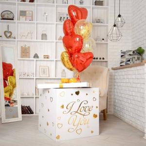 Коробка-сюрприз с шарами №62