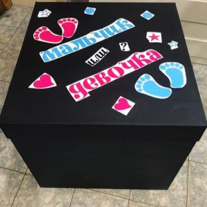 """Коробка с шарами №72 """"Мальчик или девочка"""""""