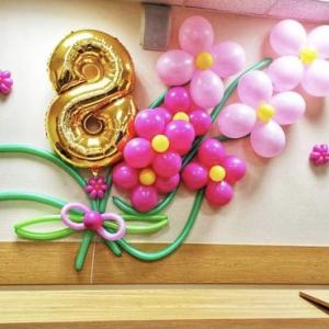 Оформление шарами 8 марта № 27