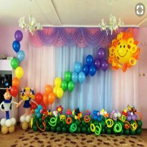 Оформление шарами выпускного в детском саду № 10