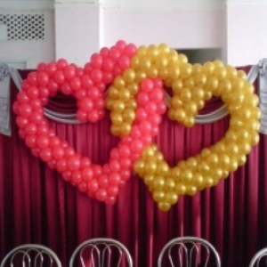 """Фигура из шаров """"Два сердца"""""""