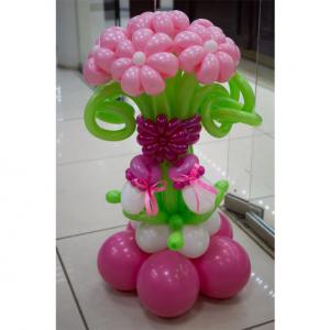 """Цветы из шаров № 10 """"Это девочка"""""""