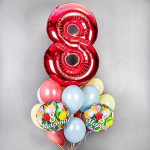 Оформление шарами 8 марта № 29