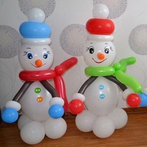 """Фигура из шаров """"Снеговик № 6"""""""