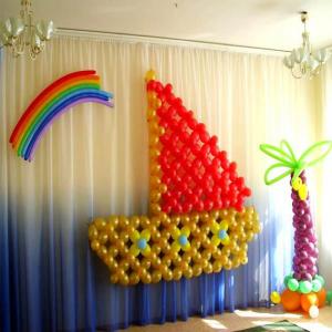 Оформление шарами выпускного в детском саду № 12