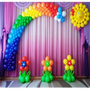 Оформление шарами выпускного в детском саду № 09