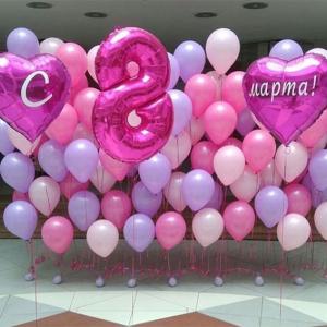 Оформление шарами 8 марта № 15