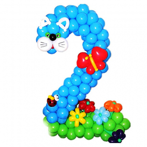 """Фигура из шаров """"Цифра """"Котёнок"""""""
