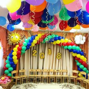 Оформление шарами выпускного в детском саду № 01