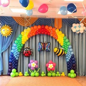 Оформление шарами выпускного в детском саду № 30