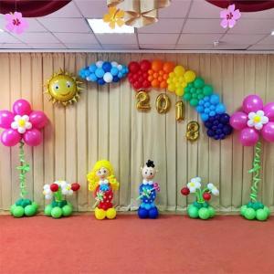 Оформление шарами выпускного в детском саду № 29
