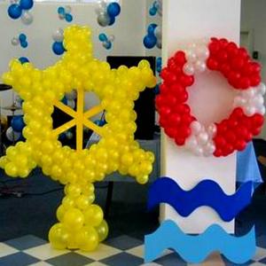 Оформление шарами выпускного в детском саду № 13