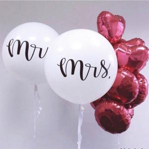 Оформление шарами свадьбы № 84