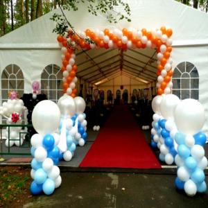 Оформление шарами свадьбы № 14