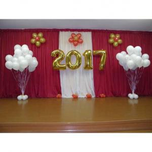 Оформление шарами выпускного в школе № 24